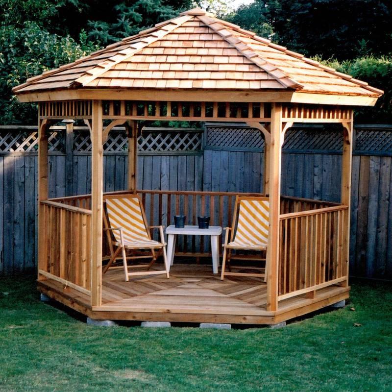 Gartenpavillon Holz Viereckig ~   Gartenpavillon Form und Größe des Pavillons Ein Pavillon aus Holz