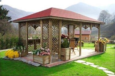 Gartenpavillons aus Holz